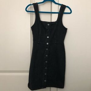 NWT Urban Outfitters Black Jean Dress